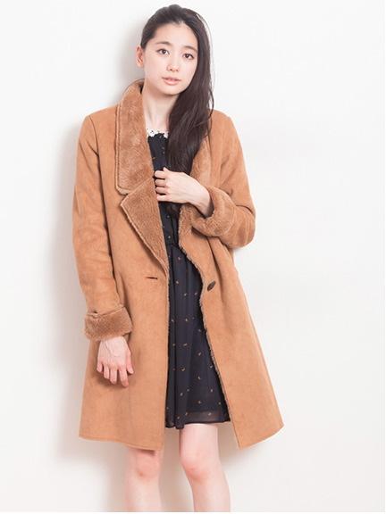 【先行受注】フェイクムートンステンカラ-コート