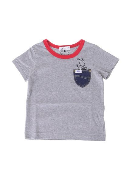 Kid's Lee×PEANUTSデニムポケットTシャツ